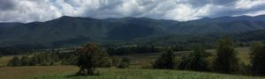 Cades Cove in the Smoky Mountain National Park by the author